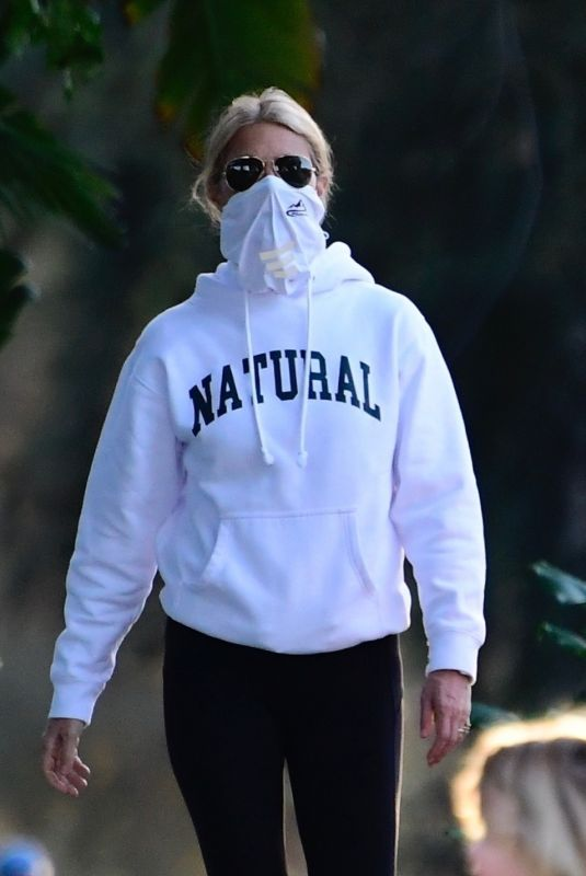 GWYNETH PALTROW Out Walking in Brentwood 01/01/2021