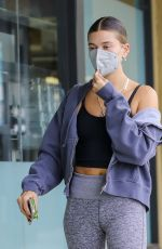 HAILEY BIEBER Out in Los Angeles 01/12/2021