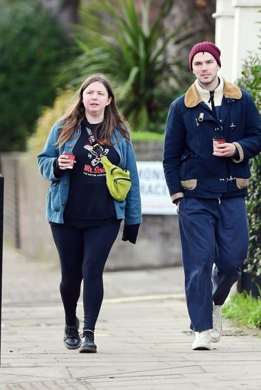 HANNAH MURRAY and Nicholas Hoult Out in Primrose Hill 01/02/2021