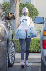 HAY:EY ROBERTS in Tights Out Shopping in Calabasas 01/07/2021