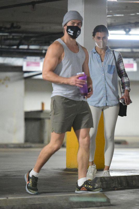 HAYLEY ERBERT and Derek Hough Shopping for Pet Food in Los Angeles 01/21/2021