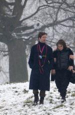 HELENA BONHAM CARTER abd Rye Dag Holmboe Out at a Park in London 01/24/2021