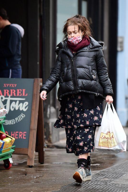 HELENA BONHAM CARTER Out Shopping in London 01/27/2021
