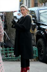 HILARY DUFF and MOLLY BERNARD on the Set of Younger in New York 01/20/2021
