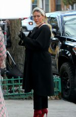HILARY DUFF on the Set of Younger in New York 01/20/2021