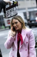 HILARY DUFF on the Set of Younger in New York 01/22/2021
