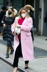 HILARY DUFF on the Set of Younger in New York 01/25/2021