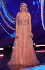 HOLLY WILLOGHBY on the Set of Dancing on Ice 01/17/2021