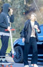 JAIME KING Out at a Park in Los Angeles 01/03/2021