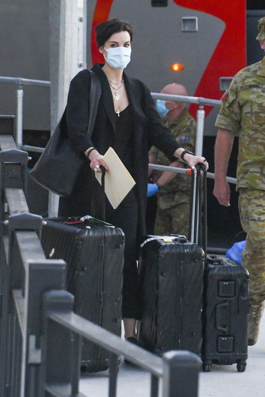 JAIMIE ALEXANDER Arrives at Airport in Sydney 01/25/2021