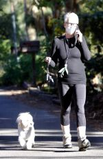 JAMIE LEE CURTIS Out with Her Dog in Santa Monica 01/21/2021