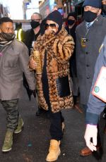 JENNIFER LOPEZ Arrives for Her New Years Eve Performance Rehersal at Times Square 12/31/2020