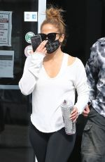 JENNIFER LOPEZ Heading to a Gym in Miami 01/21/2021