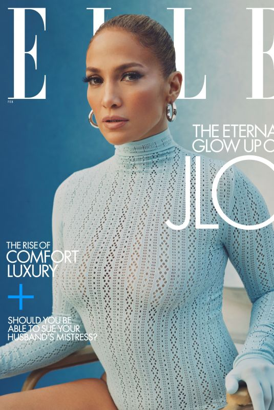JENNIFER LOPEZ in Elle Magazine, February 2021