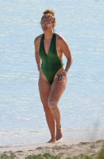 JENNIFER LOPEZ in Swimsuit at a Beach in Turks and Caicos 01/08/2021