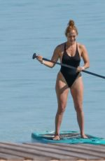 JENNIFER LOPEZ in Swimsuit Paddle-boarding in Turks and Caicos 01/06/2021