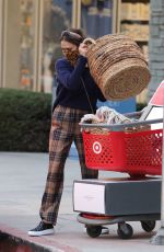JESSICA ALABA Shopping at Target in Los Angeles 01/02/2021