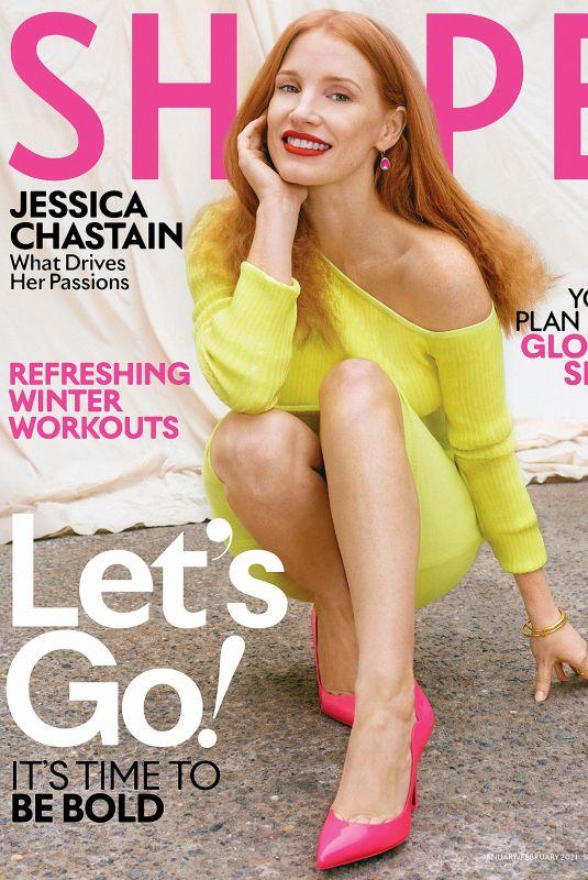 JESSICA CHASTAIN in Shape Magazine, January 2021