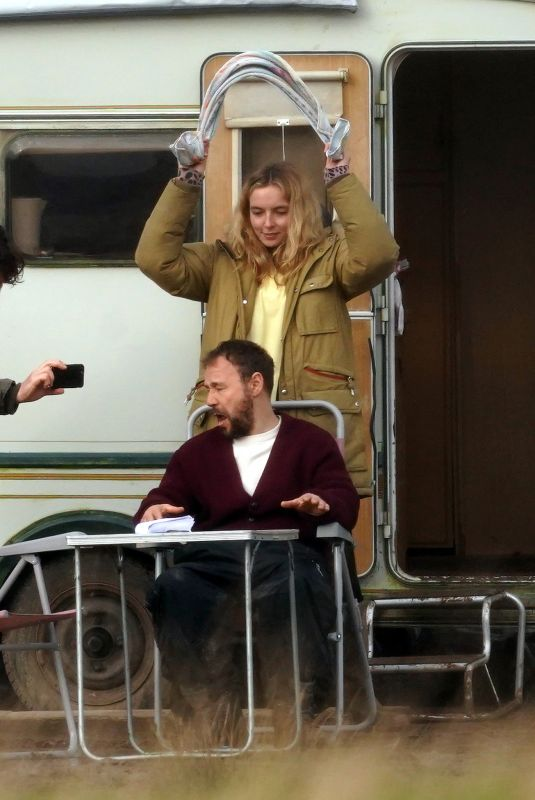 JODIE VOMER and Stephen Graham on the Set of Home, a Covid 19 Drama in Liverpool 01/27/2021
