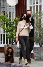JORDANA BREWSTER and Mason Morfit Out with Their Dog in Brentwood 01/07/2021