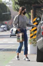 JORDANA BREWSTER Out for a Baguette and Coffee at Kreation Organic in Santa Monica 01/19/2021