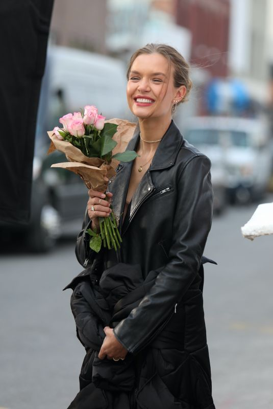 JOSEPHINE SKRIVER on the Set of Maybelline Commercial in Brooklyn 01/16/2021