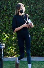 KAIA GERBER Leaves a Gym in Los Angeles 01/21/2021