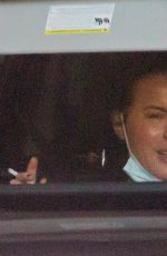 KATE BECKINSALE Out Smoking in a Car in Beverly Hills 01/18/2021