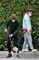KATE MARA and Jamie Bell Out at Griffith Park in Los Feliz 12/30/2020