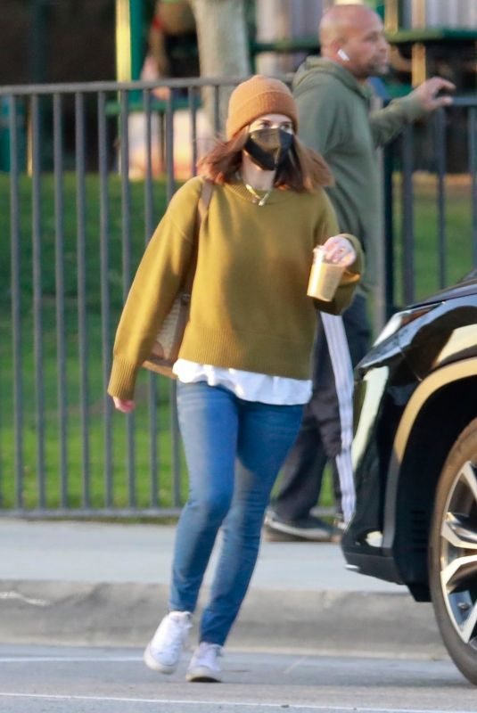KATE MARA Out at a Park in Pasadena 01/26/2021