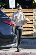 KATE MARA Out for Coffee in Los Feliz 12/31/2020