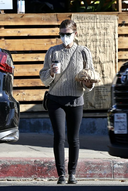 KATE MARA Out for Coffee in Los Feliz 12/31/2020
