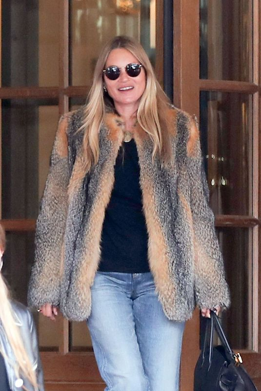 KATE MOSS Leaves Ritz Hotel in Paris 01/17/2021