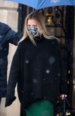 KATE MOSS Out Celebrates Her Birthday in Paris 01/16/2021