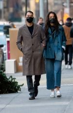KATIE HOLMES and Emilio Vitolo Jr Out in New York 01/12/2021