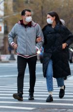 KATIE HOLMES and Emilio Vitolo Jr Out in New York 01/22/2021