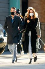 KATIE HOLMES and Emilio Vitolo Jr Out in New York 10/01/2021