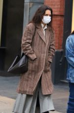 KATIE HOLMES Out and About in New York 01/01/2021