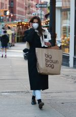 KATIE HOLMES Out and About in New York 01/18/2021