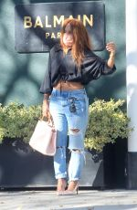 KEYSHIA COLE in Ripped Denim Out Shopping in Beverly Hills 01/16/2021