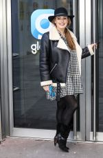 KELLY BROOK Arrives at Global Radio in London 01/12/2021