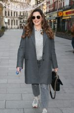 KELLY BROOK Arrives at Heart Radio in London 01/07/2021
