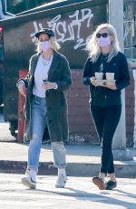 KRISTEN STEWART and DYLAN MEYER at Blue Bottle in Los Feliz 01/04/2021