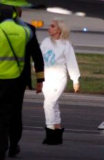 LADY GAGA Flies Back from Presidential Inauguration in Washington DC 01/20/2021
