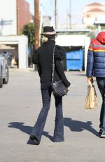 LAETICIA HALLYDAY Out and About in Santa Monica 01/24/2021