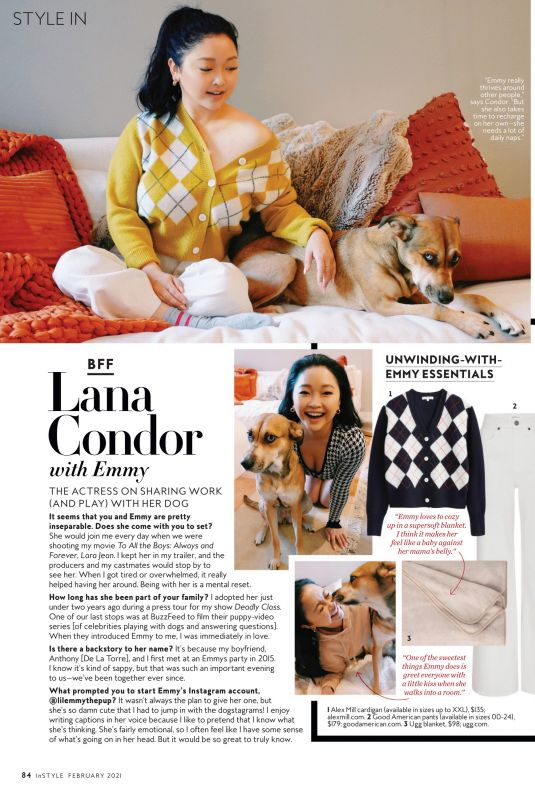 LANA CONDOR in Instyle Magazine, February 2021