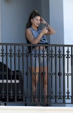 LARSA PIPPEN Chats on the Phone on Her Balcony in Ft. Lauderdale 01/21/2021