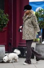 LAURA WHITMORE Out with Her Dog in London 01/18/2021