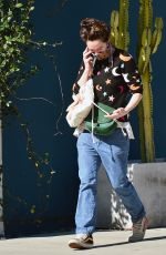 LENA HEADEY Leaves Clare Vivier Store in West Hollywood 01/26/2021