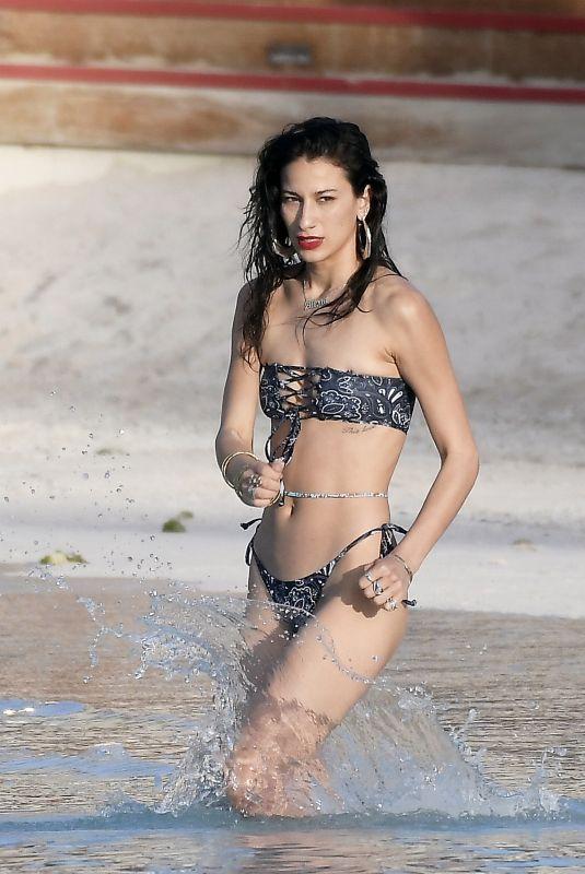 LEXY PANTERRA in Bikini at a Beach in St Barths 01/23/2021